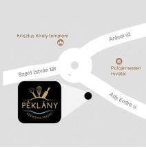 Péklány térképen